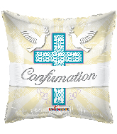 "18"" Cross Confirmation Foil Balloon"