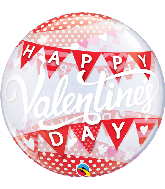 "22"" Round Valentine's Day Banners Bubble Balloon"