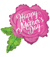 "36"" Happy Mother&#39s Day Rose Shape Foil Balloon"