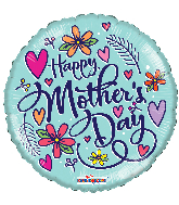 "18"" Happy Mother&#39s Day Hearts Foil Balloon"
