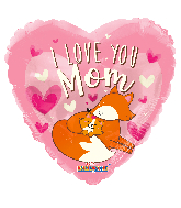 "18"" I Love You Mom Foil Balloon"