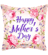 "36"" Happy Mother's Day Classic Flowers Foil Balloon"