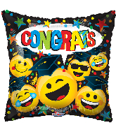 "18"" Congrats Graduation Smilies Foil Balloon"