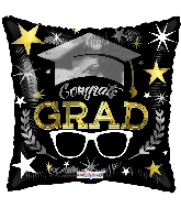 "18"" Congrats Grad Glasses Foil Balloon"