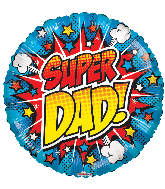 "18"" Super Dad! Gellibean Foil Balloon"