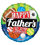 "18"" Happy Father&#39s Day Sports Gellibean Foil Balloon"