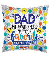 "18"" Dad Smilies Hollographic Foil Balloon"