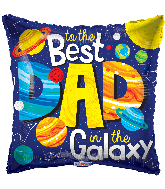 "9"" To The Best Dad In The Galaxy Foil Balloon"