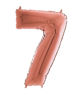 "26"" Midsize Foil Shape Balloon Number 7 Rose Gold"