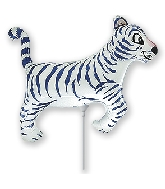Airfill Only White Tiger Balloon
