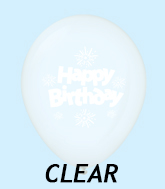 "11"" HB Streamers Latex Balloons Clear (25 Per Bag)"