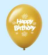 "11"" HB Streamers Latex Balloons Gold (25 Per Bag)"