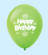 "11"" HB Streamers Latex Balloons Lime Green (25 Per Bag)"
