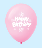 "11"" HB Streamers Latex Balloons Pastel Pink (25 Per Bag)"