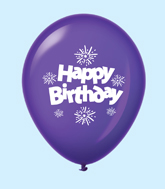 "11"" HB Streamers Latex Balloons Purple (25 Per Bag)"