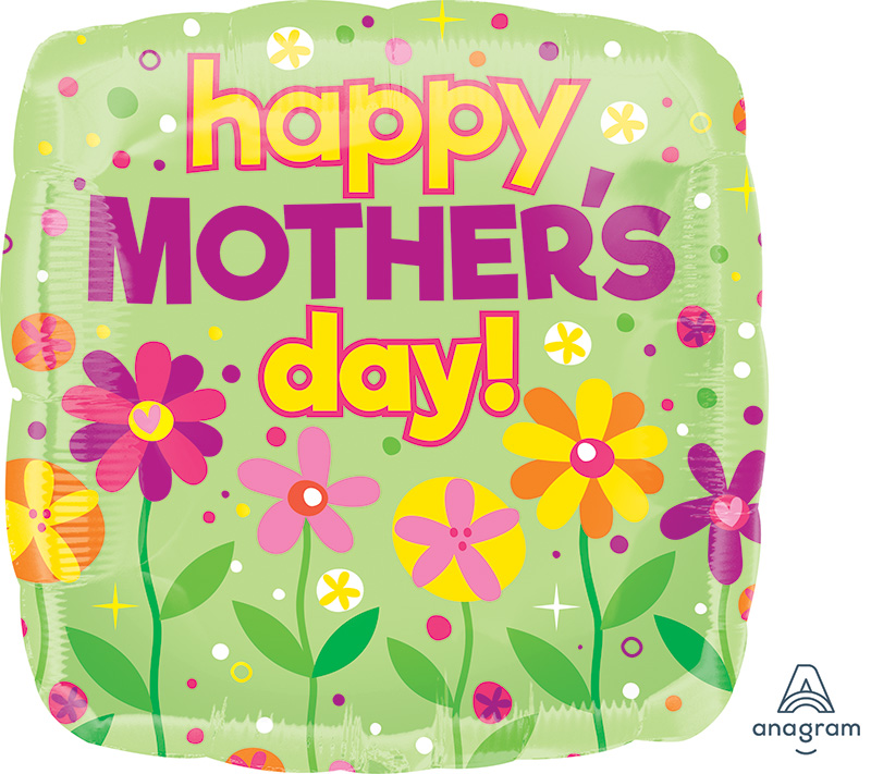 "28"" Happy Mother's Day Garden Patch Jumbo Foil Balloon"