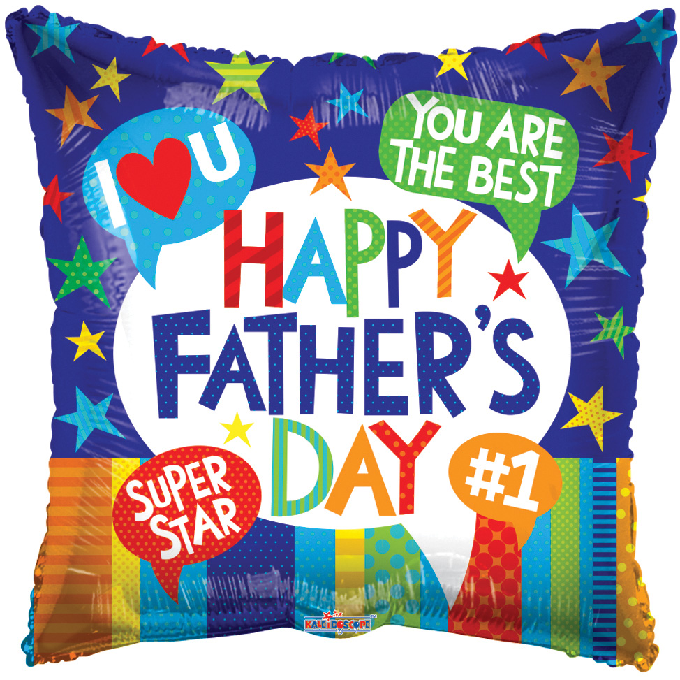 "9"" Airfill Only Father's Day Messages Foil Balloon"