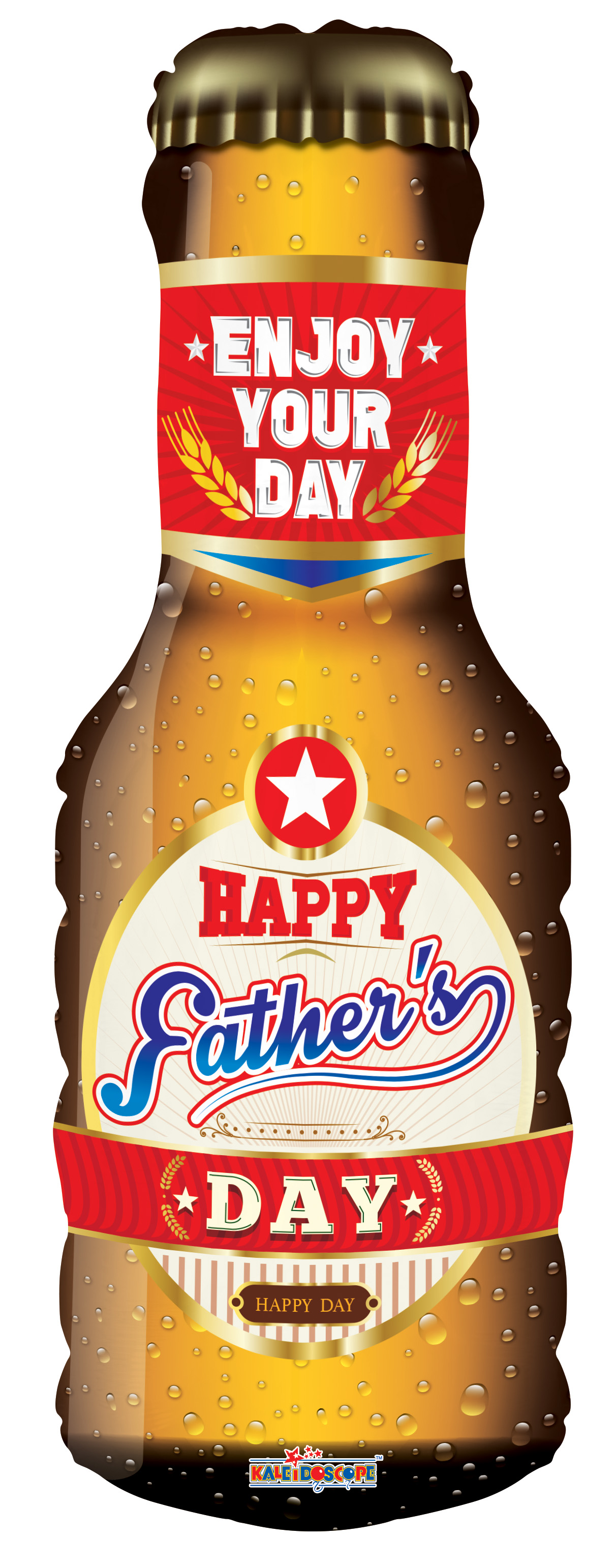 "36"" Father&#39s Day Beer Shape Foil Balloon"