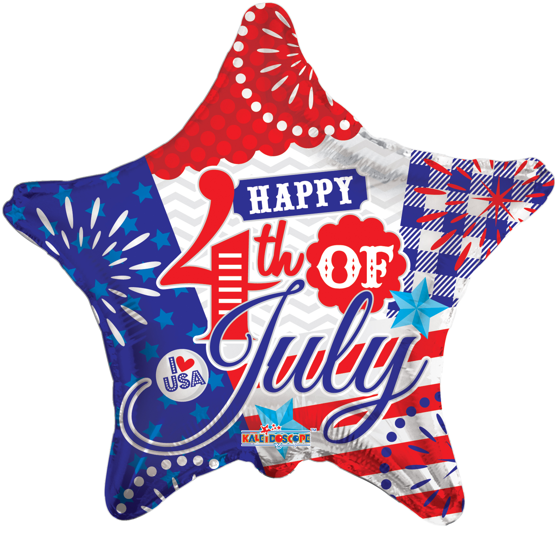 "18"" Happy 4Th Of July Star Foil Balloon"