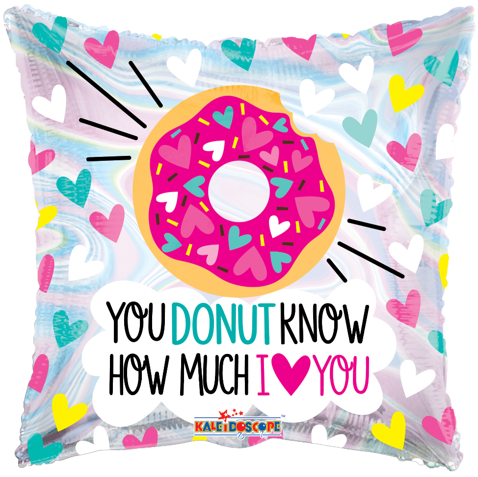 "18"" Donut Love Holographic Foil Balloon"
