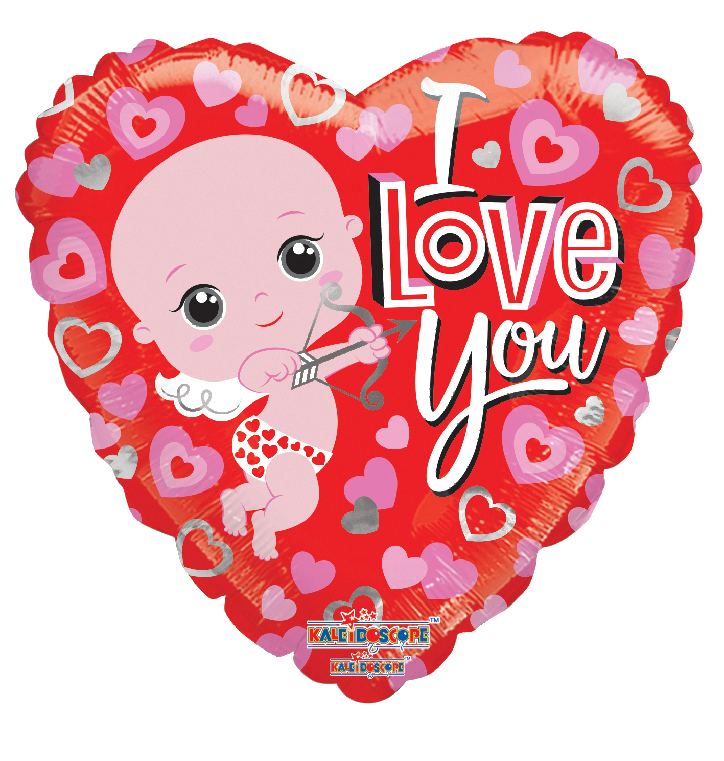 "18"" I Love You Cupid Foil Balloon"
