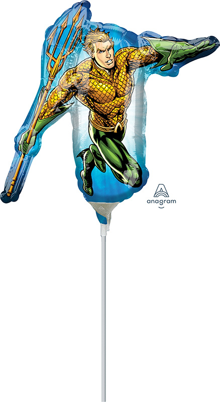 Airfill Only Aquaman Foil Balloon