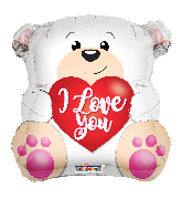 "18"" Love Polar Bear Shape Foil Balloon"