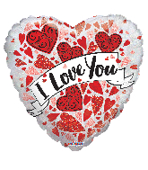 "9"" Airfill Only Love You Banner Holographic Foil Balloon"