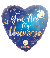 "18"" You Are My Universe Foil Balloon"