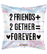 "18"" 2 Friends 2Gether Holographic Foil Balloon"
