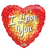 "18"" I Love You Gold Hearts Foil Balloon"