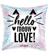 "18"" Hello Mew Love Holographic Foil Balloon"