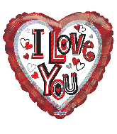"18"" I Love You Contemporary Letters Foil Balloon"