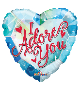 "18"" I Adore You Foil Balloon"
