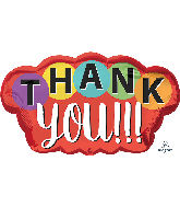 "30"" Jumbo Thank You Dots Foil Balloon"