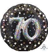 "36"" Multi Balloon Sparkling Birthday 70 Foil Balloon"