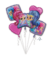 Bouquet Shimmer & Shine Foil Balloon