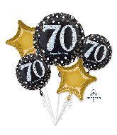 Bouquet Sparkling Birthday 70 Foil Balloon