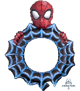 "32"" Airfill Only Spider-Man Frame Foil Balloon"