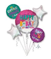 Bouquet Young & Fabulous Birthday Foil Balloon