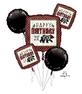 Bouquet Little Lumberjack Birthday Foil Balloon