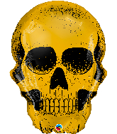 "36"" Golden Skull Foil Balloon"