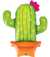 "39"" Potted Cactus Foil Balloon"