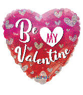 "18"" Be My Valentine Hearts Holographic Foil Balloon"
