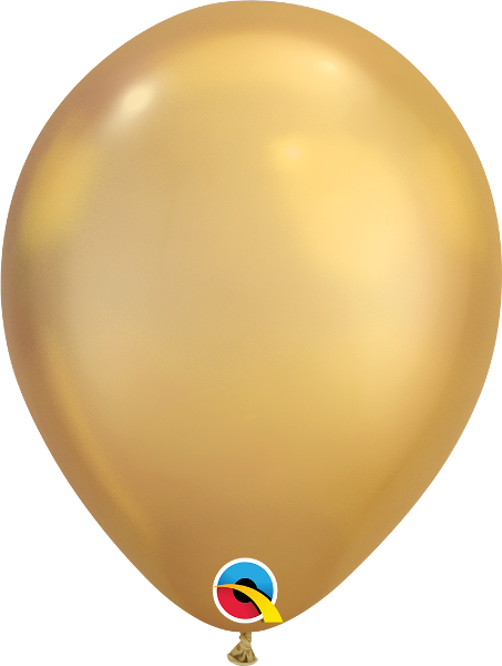 "11"" Chrome Gold 100 Count Qualatex Latex Balloons"