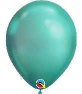 "11"" Chrome Green 25 Count Qualatex Latex Balloons"
