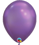 "11"" Chrome Purple 25 Count Qualatex Latex Balloons"