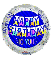 "18"" Happy Birthday To You Banner Foil Balloon"