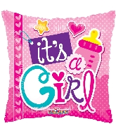 "18"" It's A Girl Elements Foil Balloon"
