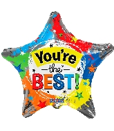 "18"" You&#39re The Best Star Foil Balloon"